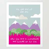 Who You Are Art Print