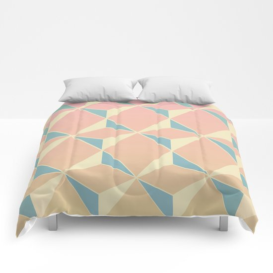 Triangles and Squares XI Comforters