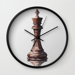 king low poly Wall Clock