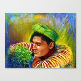 Alex Wassabi & The Tale of the Emerald Flower Canvas Print