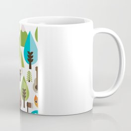 Wild camping trip with fox and wild animals illustration Coffee Mug