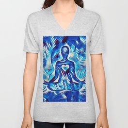 Meditation with Love and Light Unisex V-Neck