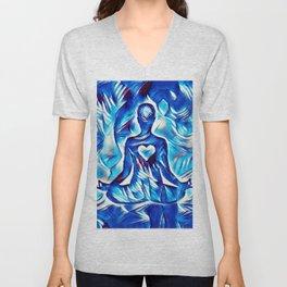 Meditation with Love and Light Unisex V-Neck