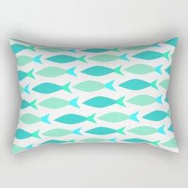 Neon Fishes Rectangular Pillow