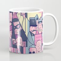 budapest hotel Mugs featuring Grand Hotel by Ale Giorgini