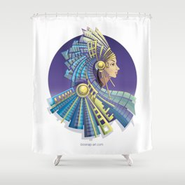 Amerindian Fantasy Shower Curtain