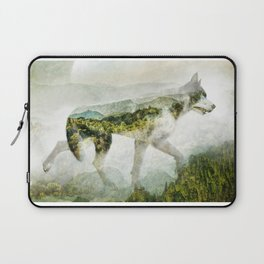 Wolf Mountain Looking Right Laptop Sleeve