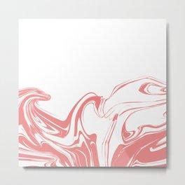 Color drop in water in motion. Ink swirling.  Metal Print