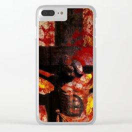 Nel Mondo che faremo Dio è risorto Clear iPhone Case