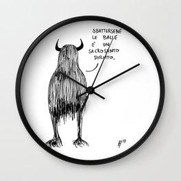 Mostro Brutto menefreghista Wall Clock