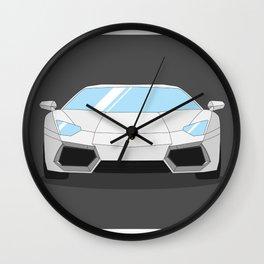 Lamborghini Aventador Illustration Wall Clock