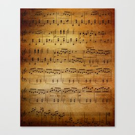 Yesterday's Music Canvas Print