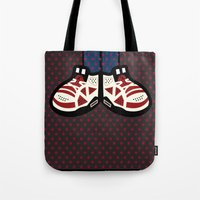 air jordan Tote Bags featuring AIR JORDAN 6 by originalitypieces