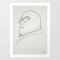 One Line Morpheus Art Print