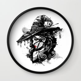 Gothic Witch Wall Clock