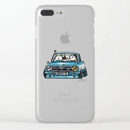 Crazy Car Art 0144 Clear iPhone Case