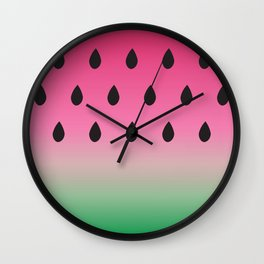 Watermelon Print Wall Clock