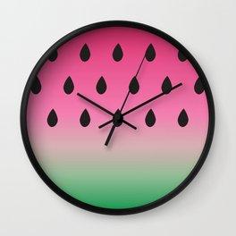 Watermelon Print Wall Clock