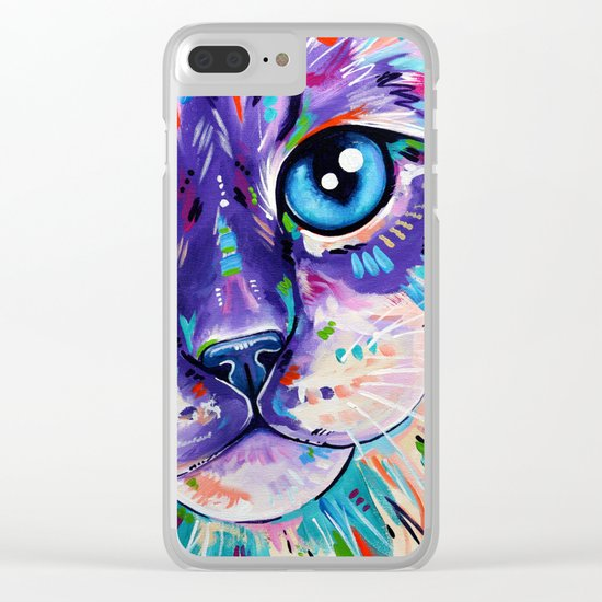 Cats in Colour 1 Clear iPhone Case