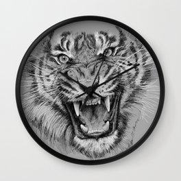 Tiger Portrait Animal Design Wall Clock