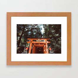 Fushimi Inari Shrine in Japan Framed Art Print
