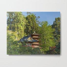 Pagodas (Tō) in Japanese Tea Garden, Golden Gate Park, San Francisco, California Metal Print