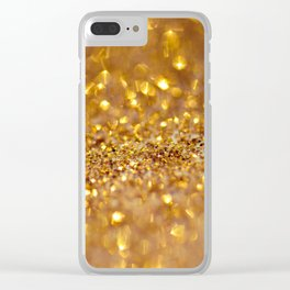 Golden glitter #society6 Clear iPhone Case