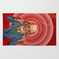 freud Area & Throw Rugs featuring Herr Doktor by Davel F. Hamue