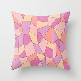 Candy geometry Throw Pillow