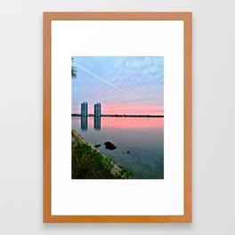 Over the River Framed Art Print