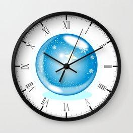 Christmas Star Globe Wall Clock