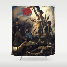 LIBERTY LEADING THE PEOPLE - EUGENE DELACROIX Shower Curtain