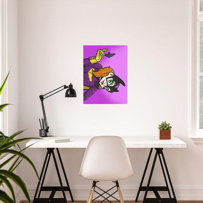 Bat Pinup Poster