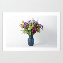 Floral Blue Vase Art Print