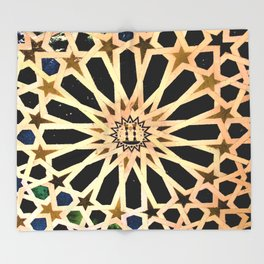 Azulejo de La Alhambra Throw Blanket