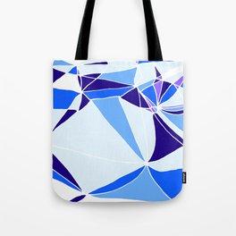 Blue mosaic Abstract artwork Tote Bag