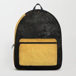 Black Grunge & Gold texture Backpack