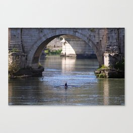 The River Under the Bridges Canvas Print