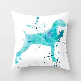 BLUE WATER WEIMARANER Throw Pillow