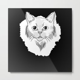 Cute Watercolor Kitten Gift Metal Print
