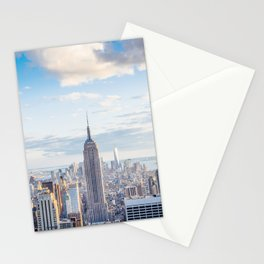 New York city skyline with Empire State Building Stationery Cards
