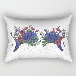 Twin Crown Lynn Swans Rectangular Pillow