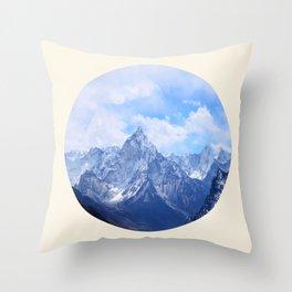 Himalayan Mountains Throw Pillow