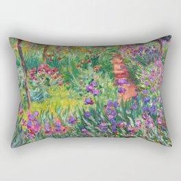 Claude Monet - The Iris Garden At Giverny Rectangular Pillow