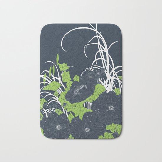 Midnight Flowers Bath Mat