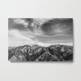 Mount Hutt Sky Metal Print