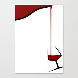 Pouring A Glass Of Wine Canvas Print