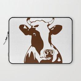 Animal Art Brown Cow Laptop Sleeve