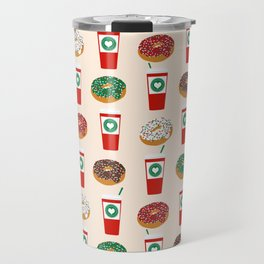 Coffee donuts foodie brunch breakfast desserts coffee lovers gifts Travel Mug