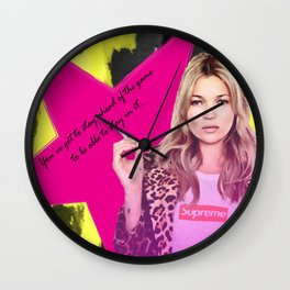 Fashion abstract poster Wall Clock